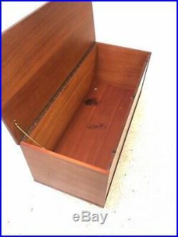 Large Vintage Retro Mid Century Ottoman Danish Teak Blanket Box Storage Trunk