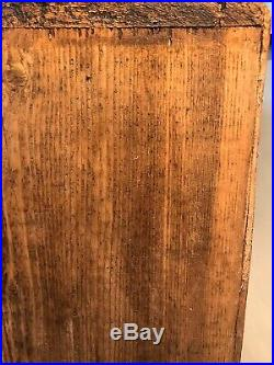 Large Vintage Wooden Storage Unit With Pigeon Holes / Shoe Rack
