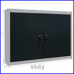 Large Wall Mount Hanging Tool Box Garage Storage Cupboard Metal Chest Cabinet uk