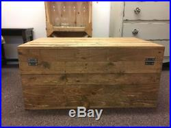 Large Wooden Chest Trunk Rustic vintage Storage Blanket Box Coffee Table GWR