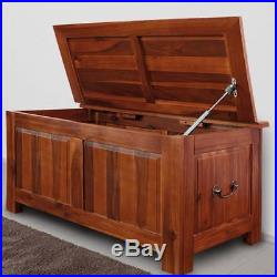 Large Wooden Chest Trunk Storage Hallway Toy Box Vintage Laundry Blanket Table