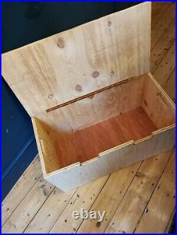 Large Wooden Storage Box Trunk Chest Coffee Table