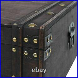 Large Wooden Storage Trunk Coffee Table Antique Chest Treasure Trunk Storage Box