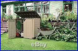 Large XL Outdoor Plastic Garden Storage Shed Tools Furniture Box Wheelie Bins UK