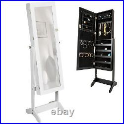 Large floor standing jewelry cabinet storage box organiser with mirror new