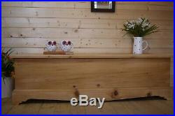 Large solid wooden waxed pine storage chest trunk box ottoman coffee table