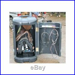 Large wheeled Tack Pack, yard storage box, black trailer horse equestrian