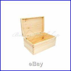 Large wooden box, storage box, storage box with lid NO HANDLES