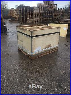 Large Wooden Box With Lid Package Create Storage Shipping