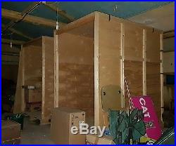 Large wooden containers x 6 flat pack