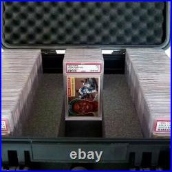 Lot Of 2 Large Ip65 Graded Card Storage Box Psa Bgs Slab Weather/waterproof Case