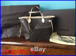 Louis Vuitton LV Neverfull MM, with clutch, storage bag, box & gift bag M40995