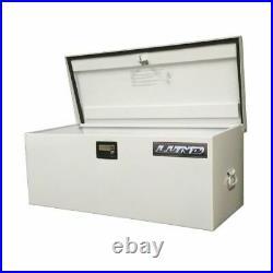 Lund 88048 Light Duty Large 48 Job Site Storage Box White Steel NEW