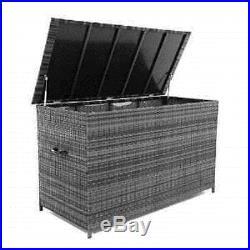 Maze Rattan Large Storage Cushion Box Grey