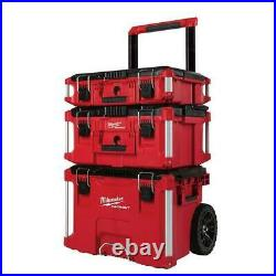 Milwaukee 22 Packout Modular Rolling Tool Box Stackable Storage 48-22-8400