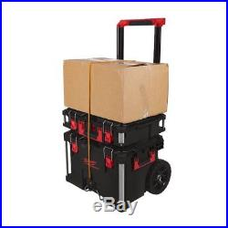 Milwaukee Packout Set with Trolley Case, Packout Case Large & Packout Case