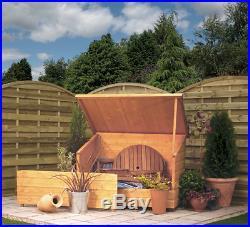NEW Rowlinson Large Outdoor Garden Wooden Furniture/Bike Storage Chest Box
