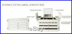 NIB Pottery Barn Ultimate XL Mirrored jewelry box storage extra-large mirror