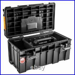 Neo Tools Modular Box on Wheels + 500 Box storage 2 Piece Cart Set