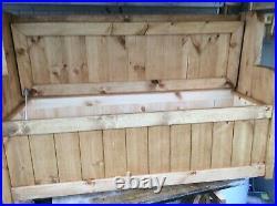 New Large Church pew / Monks Bench / Settle Heavy Duty Shoe Storage Seat Box