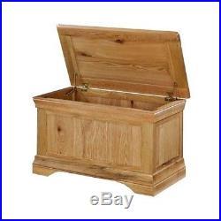 Oak Blanket Box Ottoman Wood Modern Large Bed Room Bedding Toy Storage Chest