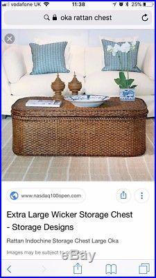 Oka Rattan Indochine storage chest extra large