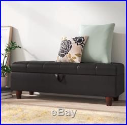 Ottoman Storage Bench Large Upholstered Hallway Seat Bedroom Modern Stool Box