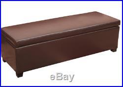 Ottoman Storage Bench Upholstered Large Hallway Bedroom Seat Window Stool Box