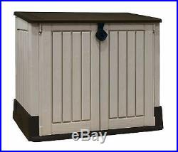 Outdoor Garden Patio Storage Box Container Chest Large Plastic Garden Shed Unit
