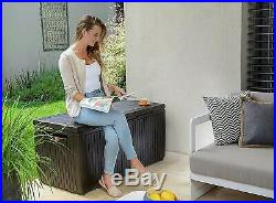 Outdoor Garden Patio Storage Box Outdoor Chest Container Large Plastic Shed Unit