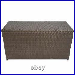 Outdoor Garden Rattan Storage Box 320L Chest Case Shed Furniture Waterproof