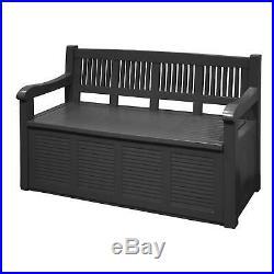 Outdoor Garden Storage Box Bench Chest Weather Resistant Organiser Seat 280L