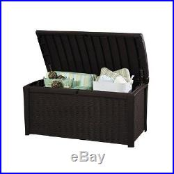 Outdoor Garden Storage Box Rattan Patio Seat Furniture Yard Lockable Large Dry
