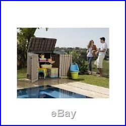 Outdoor Garden Storage Shed Plastic Large Box Tools Patio Balcony Yard Secure