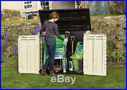 Outdoor Large Keter Box Wheelie Bin Tool Storage Garden Plastic Shed Patio Chest