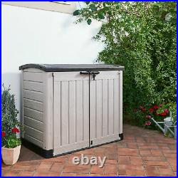 Outdoor Large Plastic Storage Box Garden Keter Store It Out Arc Lockable Shed