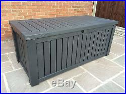 Outdoor Patio Large Storage Sturdy Durable Anthracite 2 Seater Lockable Lid