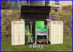 Outdoor Plastic Garden Storage Shed Box Chest Patio Store Heavy Duty Container 1