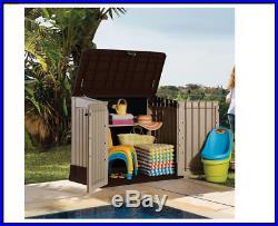 Outdoor Plastic Storage Shed Box Large Patio Garden Tools Wheelie Bins BBQ Keter