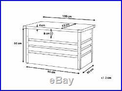 Outdoor Steel Storage Box Green Metal Cushion Chest Lockable Rectangular Cebrosa