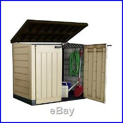 Outdoor Storage Box Shed Plastic Utility Large Garden Tools Bicycles Container