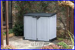 Outdoor Storage Shed Patio Container Garden Chest Tool Box Organizer Lockable