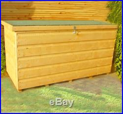 Outdoor Wooden Storage Box Large Tool Capacity Garden Patio Chest Shed With Lid