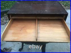 Philadelphia Underwriter Antique Solid Wood Box Paper Storage Desk Organizer