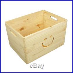 Plain Large Pine Wooden Storage Box / Toy Box / Chest / 39x30x24 cm