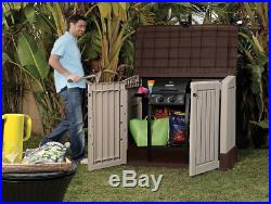 Plastic Garden Storage Box Unit Large Outdoor Keter Container Patio Tool Shed