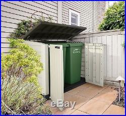 Plastic Garden Storage Cupboard Cabinet Outdoor Large Box Gardening Container UK