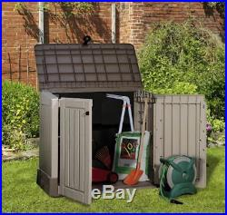 Plastic Storage Box Large Garden Shed Outdoor Patio Wheelie Bin Bike BBQ Keter