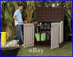 Plastic Storage Box Large Patio Garden Bike Outdoor Wheelie Bins Shed Keter BBQ