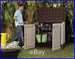 Plastic Storage Box Large Patio Garden Tools Outdoor Wheelie Bins Shed Keter BBQ